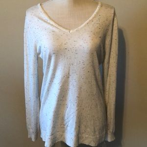 It's Our Time pullover sweater, white , medium
